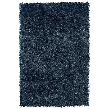 Belize BZ100 Teal Blue Shag Area Rug
