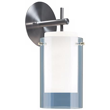 "Tech Lighting 13"" High Steel Blue Echo Wall Sconce"