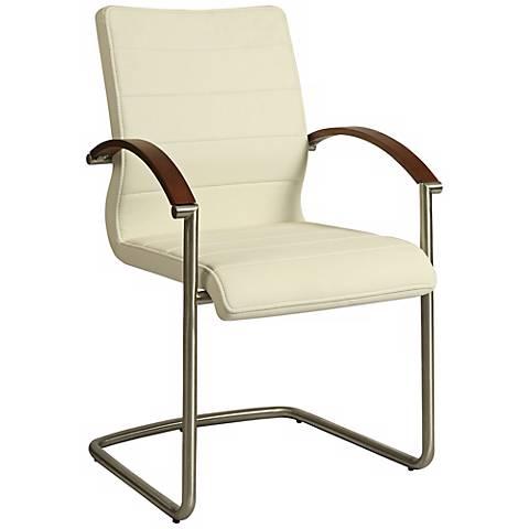 Impacterra Akasha Ivory Faux Leather Side Chair