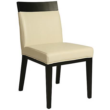 Impacterra Elloise White Bonded Leather Side Chair