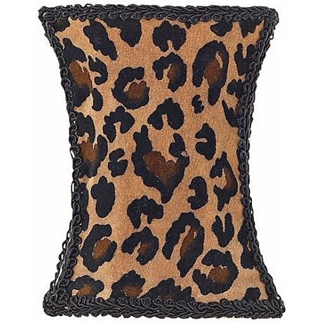 Leopard Print Hourglass Shade 3.75x3.75x5 (Clip-On)