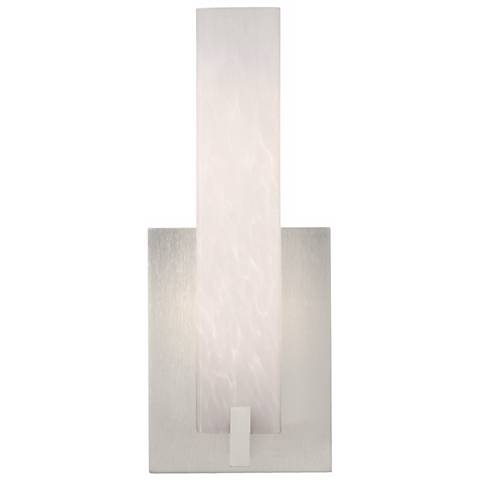 """Cosmo 12"""" High White Frit and Satin Nickel LED Wall Sconce"""