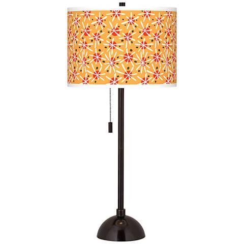 Seastar Giclee Glow Tiger Bronze Club Table Lamp