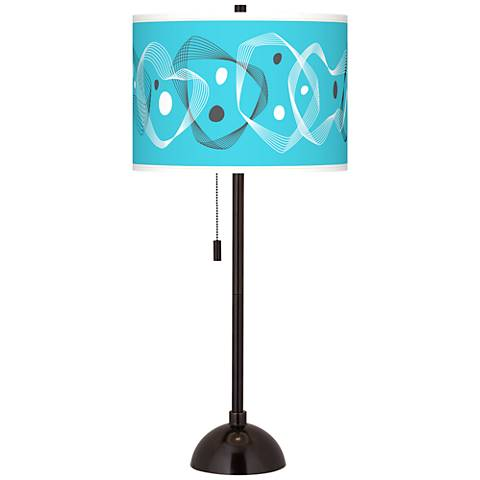 Spirocraft Giclee Glow Tiger Bronze Club Table Lamp