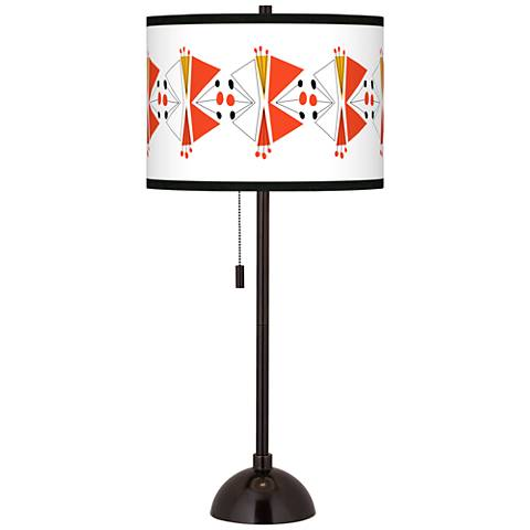 Lexiconic III Giclee Glow Tiger Bronze Club Table Lamp