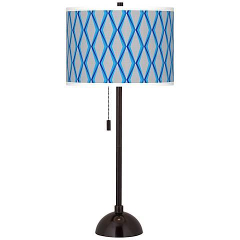 Bleu Matrix Giclee Glow Tiger Bronze Club Table Lamp