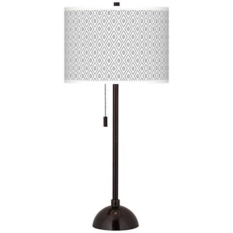 Diamonds Giclee Glow Tiger Bronze Club Table Lamp