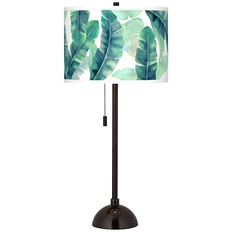 Guinea Giclee Glow Tiger Bronze Club Table Lamp