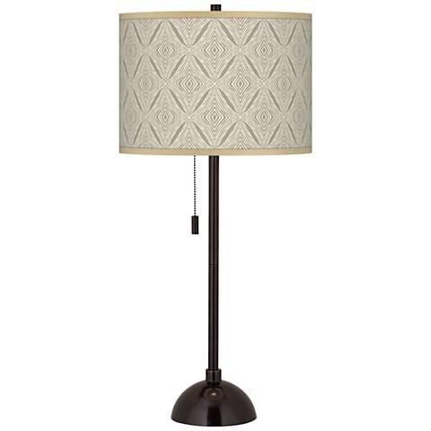 Moroccan Diamonds Giclee Glow Tiger Bronze Club Table Lamp