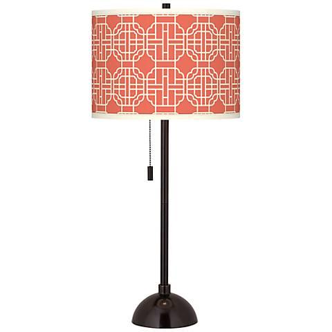 Mandarin Giclee Glow Tiger Bronze Club Table Lamp