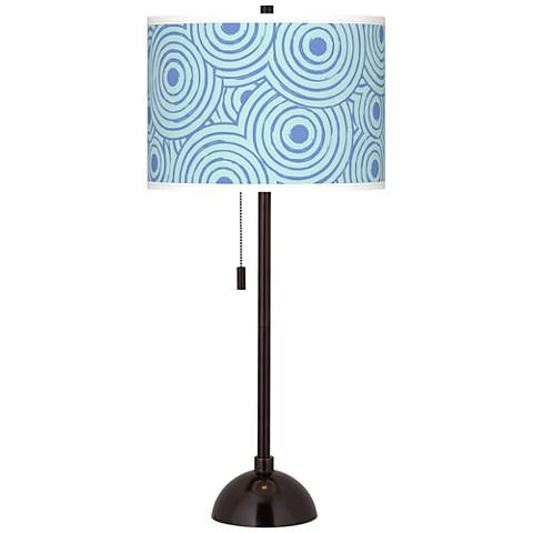 Circle Daze Giclee Glow Tiger Bronze Club Table Lamp