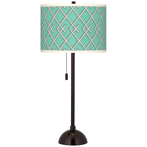 Crossings Giclee Glow Tiger Bronze Club Table Lamp