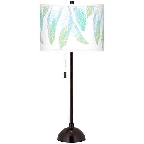 Light as a Feather Giclee Glow Tiger Bronze Club Table Lamp
