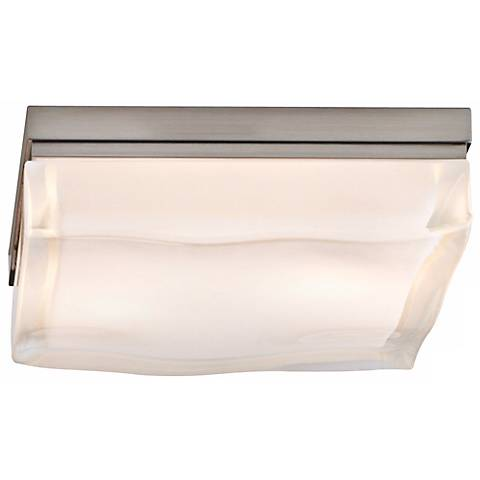 "Tech Lighting Fluid LED 9"" Square Nickel Ceiling Light"