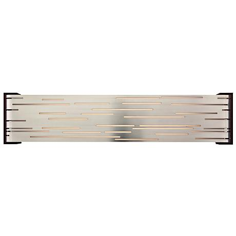 "Revel Linear LED 27"" Wide Nickel Tech Lighting Wall Light"