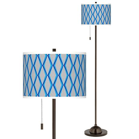 Bleu Matrix Giclee Glow Bronze Club Floor Lamp