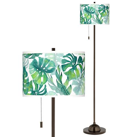 Tropica Giclee Glow Bronze Club Floor Lamp