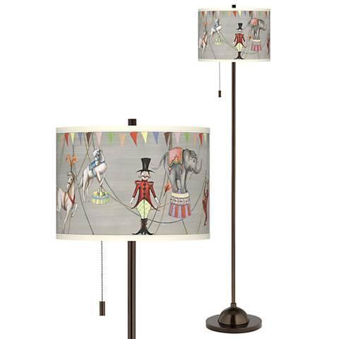 bronze swing arm floor lamp base 41523 lamps plus. Black Bedroom Furniture Sets. Home Design Ideas