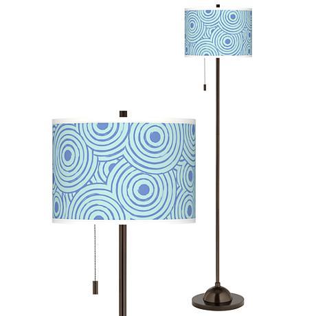 Circle Daze Giclee Glow Bronze Club Floor Lamp