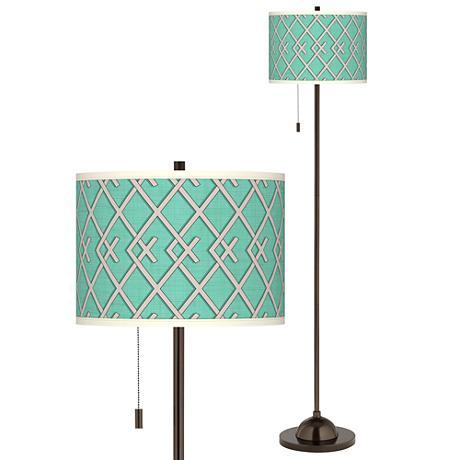 Crossings Giclee Glow Bronze Club Floor Lamp