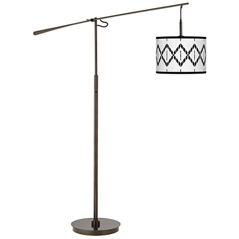 Paved Desert Giclee Glow Bronze Balance Arm Floor Lamp
