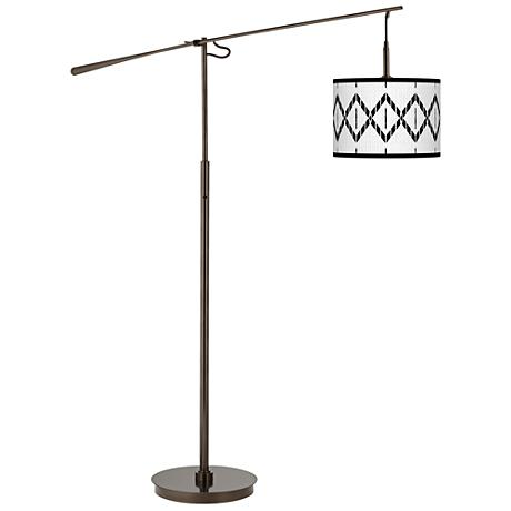 Paved Desert Giclee Glow Bronze Balance Arm Floor Lamp