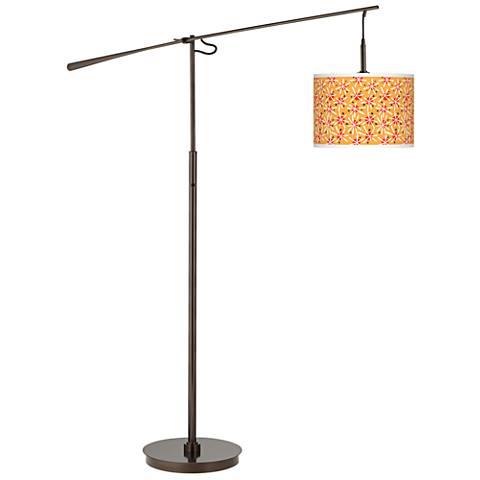 Seastar Giclee Glow Bronze Balance Arm Floor Lamp