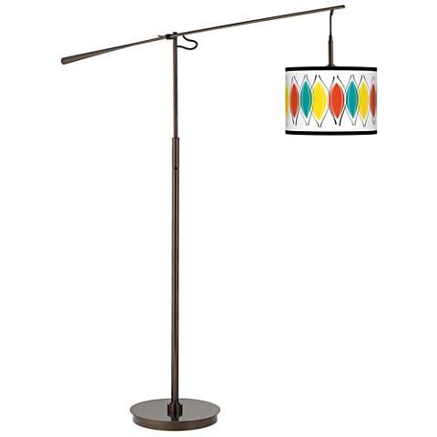 Harmonium Giclee Glow Bronze Balance Arm Floor Lamp