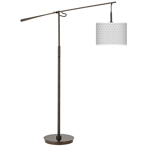 Diamonds Giclee Glow Bronze Balance Arm Floor Lamp