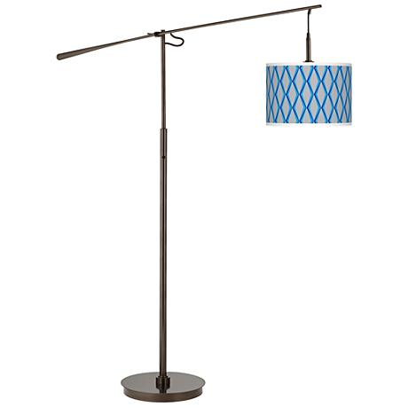 Bleu Matrix Giclee Glow Bronze Balance Arm Floor Lamp