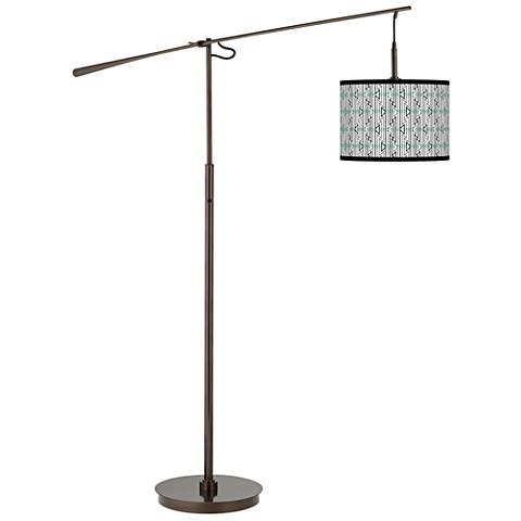 Indigenous Giclee Glow Bronze Balance Arm Floor Lamp