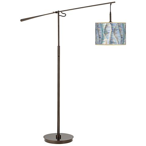 Siren Giclee Glow Bronze Balance Arm Floor Lamp