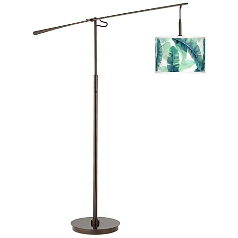 Guinea Giclee Glow Bronze Balance Arm Floor Lamp