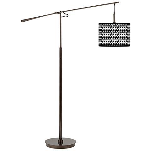 Triangle Illusion Giclee Glow Bronze Balance Arm Floor Lamp