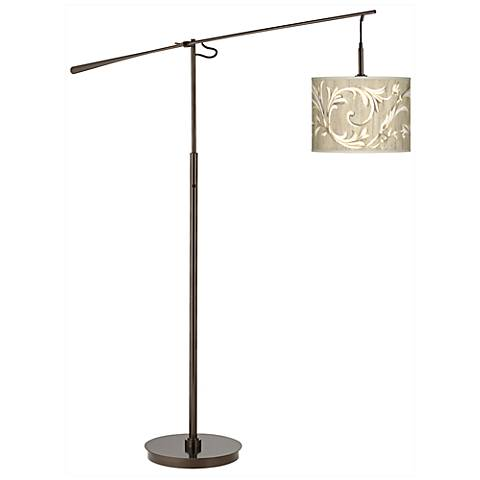 Laurel Court Giclee Glow Bronze Balance Arm Floor Lamp