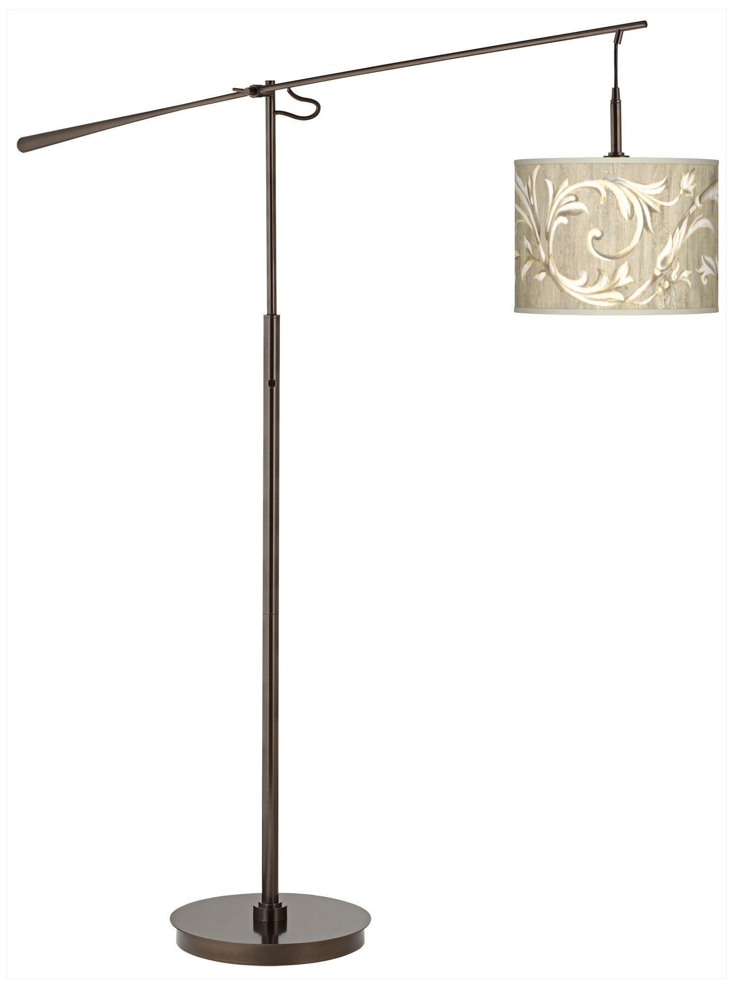 Laurel Court Giclee Glow Bronze Balance Arm Floor Lamp