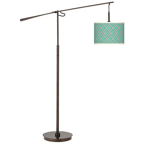 Crossings Giclee Glow Bronze Balance Arm Floor Lamp