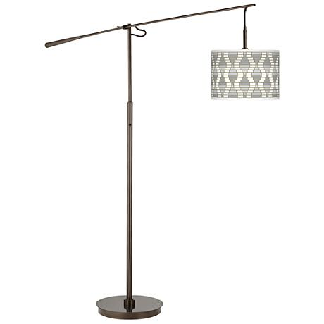 Stepping Out Giclee Glow Bronze Balance Arm Floor Lamp