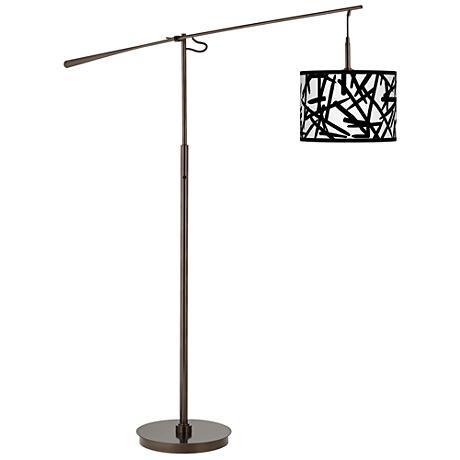 Sketchy Giclee Glow Bronze Balance Arm Floor Lamp