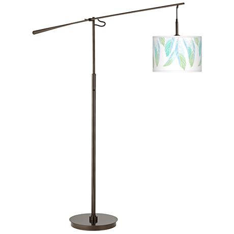 Light as a Feather Giclee Glow Bronze Balance Arm Floor Lamp