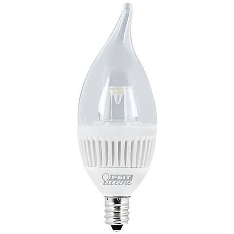 4.8 Watt Flame Tip LED Candelabra Light Bulb