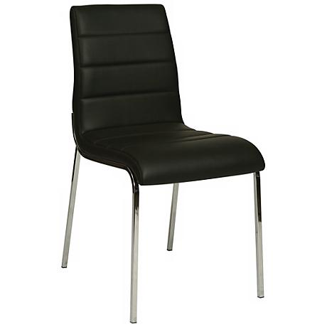 Impacterra Fort James PU Black Side Chair