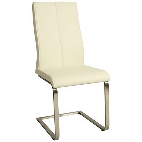 Impacterra Olander Ivory Faux Leather Side Chair