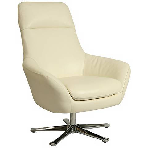Impacterra Ellejoyce Club Chair in White Leather