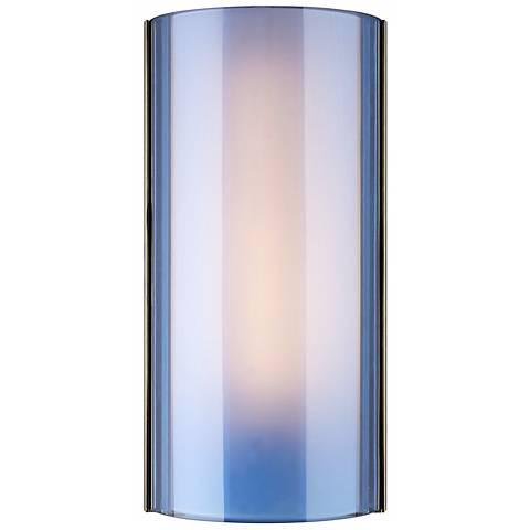 "Tech Lighting Jaxon Blue 14 1/2"" High Nickel Wall Light"