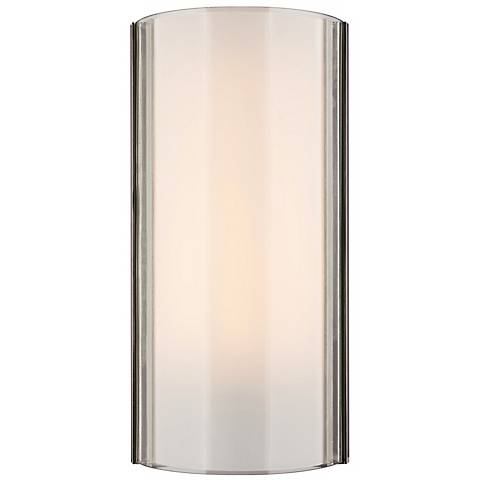 "Jaxon Clear/Nickel 14 1/2"" High Tech Lighting Wall Light"