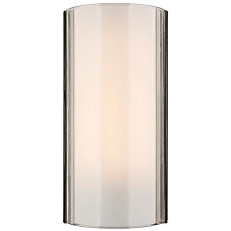 "Jaxon Clear/Nickel 14 1/2"" High Tech Lighting Wall Light"