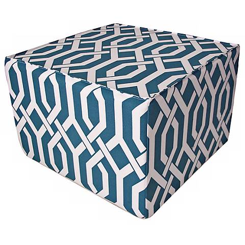 Fork Outdoor Square Teal Ottoman