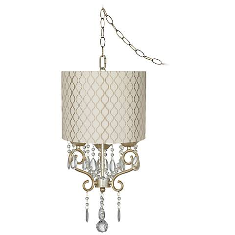 "Conti 14"" Wide Mini Swag Chandelier with Hourglass Shade"