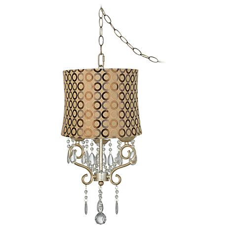 "Conti 14"" Wide Copper Circle Shade Mini Swag Chandelier"